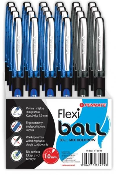 Długopis Flexi Ball mix (30szt) PENMATE