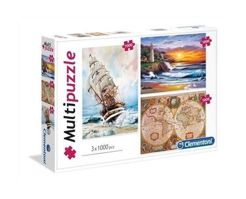 Multipuzzle Podróże 3x1000