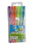 Długopisy żelowe Lambo School fluorescencyjne (L316W6)