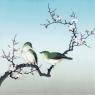 Karnet kwadrat z kopertą Plum Blossom Birds