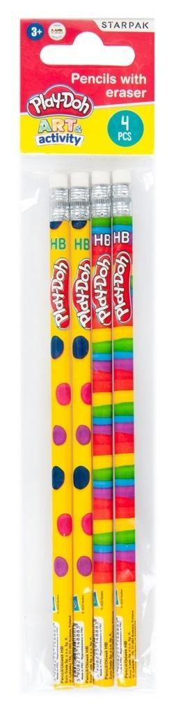 Ołówek z gumką Play-Doh 4el