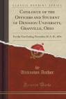 Catalogue of the Officers and Student of Denision University, Granville, Ohio