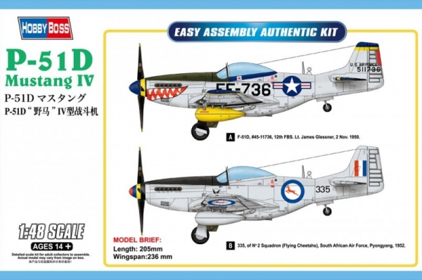 P-51D Mustang IV Fighter (85806)