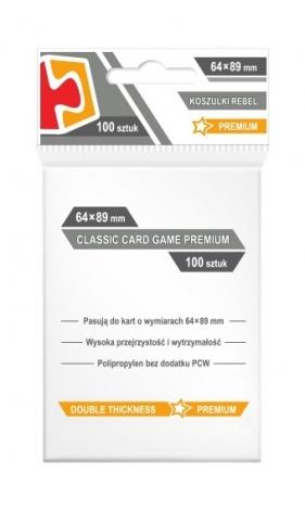 Koszulki na karty Rebel (64x89 mm) Classic Card Game Premium, 100 sztuk