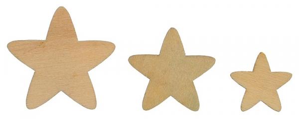 Ozdoba drewniana Titanum Craft-fun gwiazdki drewniane naturalny 120 szt