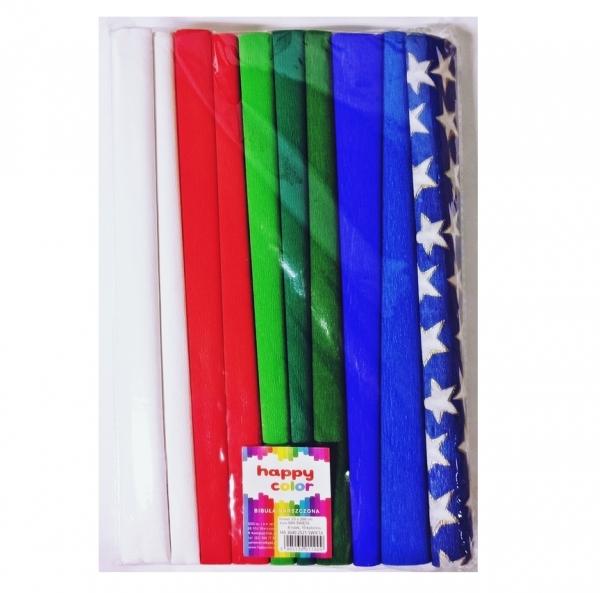 Bibuła marszczona 25 x 200 Święta mix Happy Color