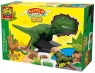 Zestaw dinozaur + ciastoliny -