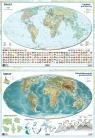 Mapa Świata A2 ukształtowanie powierzchni/polityczna dwustronna ścienna