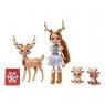 Enchantimals: Rodzina - Rainey Reindeer + reniferki (GJX43/GNP17)
