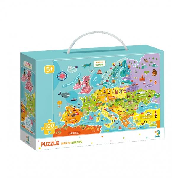 Puzzle 100: Mapa Europy (DOP300124)