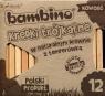 Kredki Bambono trójkątne w naturalnym drewnie z temperówką 12 sztuk