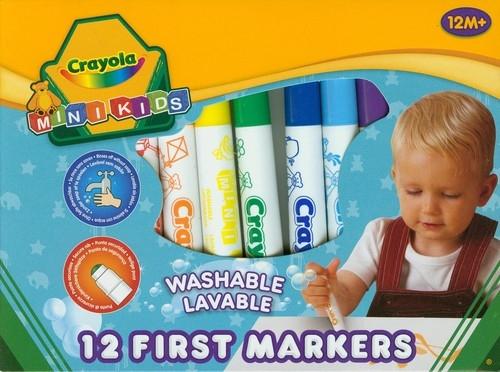 Flamastry Crayola zmywalne Mini Kids 12 sztuk (Uszkodzone opakowanie) (8325)