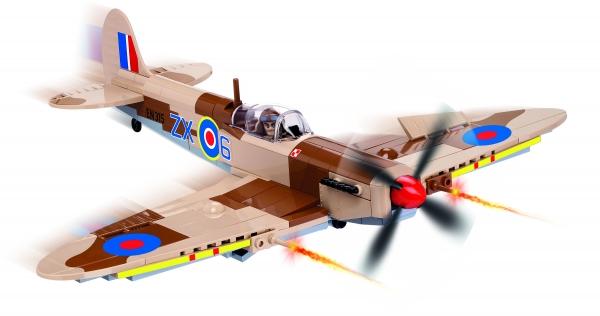 Cobi: Mała Armia WWII. Supermarine Spitfire Mk. IX - myśliwiec brytyjski (5525) (Uszkodzone opakowanie)