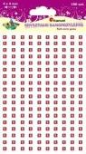 Kryształki samoprzylepne kwadraty czerwone 180szt.