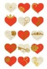 Naklejki papierowe - serca z dodatkami