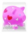Mini skarbonka świnka w serca  (8325)
