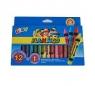 Kredki świecowe 12 kolorów + 1 fluo Flamingo