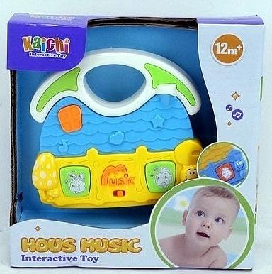 Zabawka muzyczna dla malucha. Domek (A875060M-U)