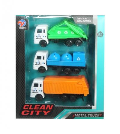 Ciężarówka śmieciarka 3 szt