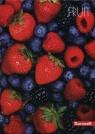 Brulion A5 w kratkę160 kartek Owoce 3 sztuki