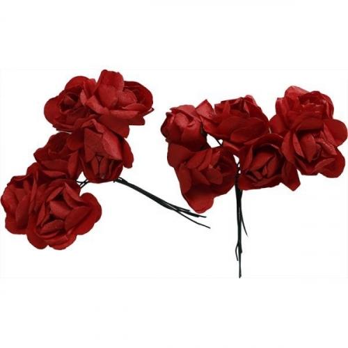 Różyczki papierowe - czerwone (396487)