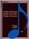 Brahms. 5 Studien, 51 Ubungen fur Klavier