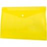 Teczka/koperta plastikowa na guzik Tetis A4 - żółta (BT611-Y)