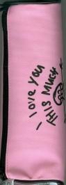 Piórnik tuba różowy