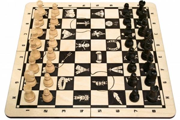 Gra Puzzle Szachy Brązowe (sz-90)