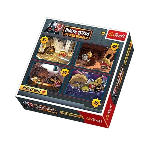 Puzzle 4 w 1 Angry Birds Star Wars  (34226)