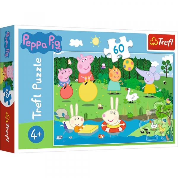 Puzzle 60: Świnka Peppa - Wakacyjna zabawa (17326)