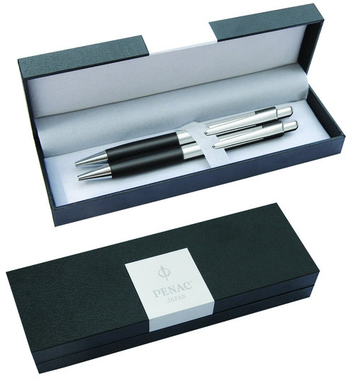 Zestaw długopis+ołówek PENAC Pepe 0,7mm czarny