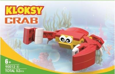 Klocki Kloksy Zwierzęta krab 52 elementy (Uszkodzone opakowanie)
