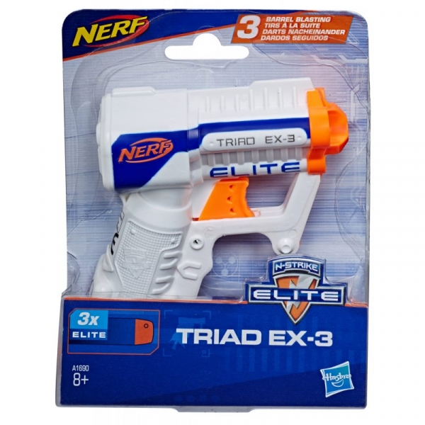 Wyrzutnia Nerf N-Strike - Elite Triad EX-3 (A1690EUA4) (Uszkodzone opakowanie)