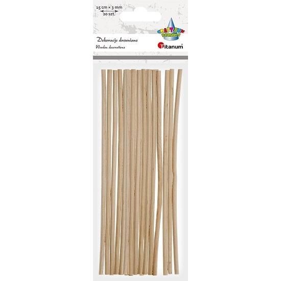 Patyczki drewniane, 20 szt. (390723)