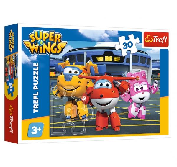 Puzzle 30: Super Wings - Przyjaciele przed hangarem (18226)