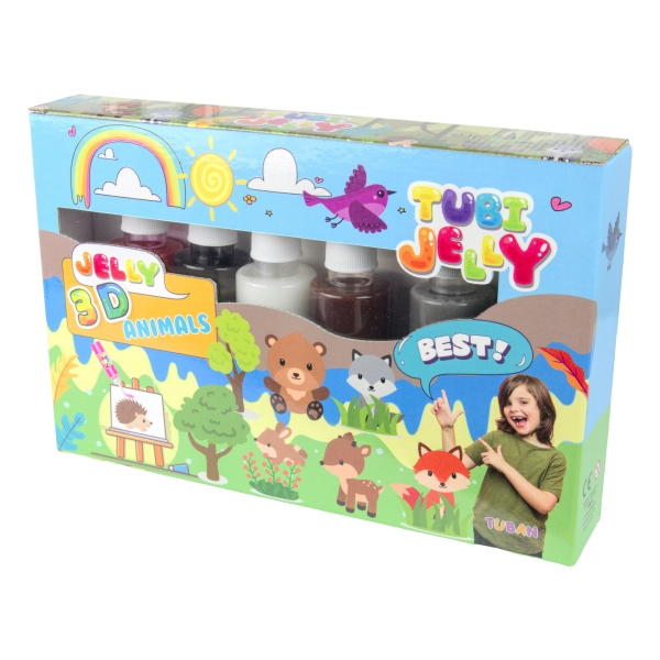 Zestaw Tubi Jelly 6 kolorów - Zwierzątka (TU3326)