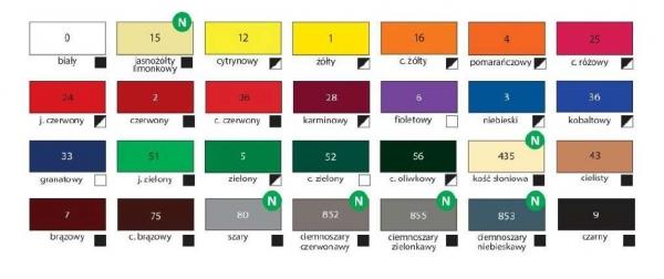 Farba akrylowa - ciemnobrązowy 75ml (HA 7370 0075-75)