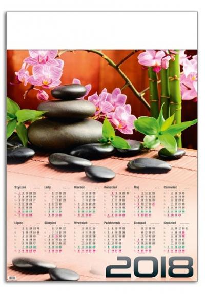 Kalendarz plakatowy Zen A1 2018 (GM-917-T11-BIAŁY)