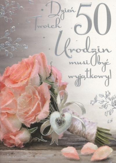 KARNET 50 Urodziny kobiety QDK-045 BPZ-PASSION CARDS QDK035