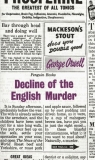 Decline of the English Murder Orwell George