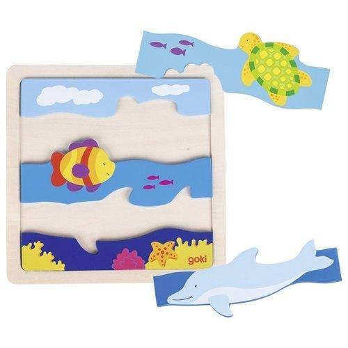 Drewniane puzzle Podwodny świat