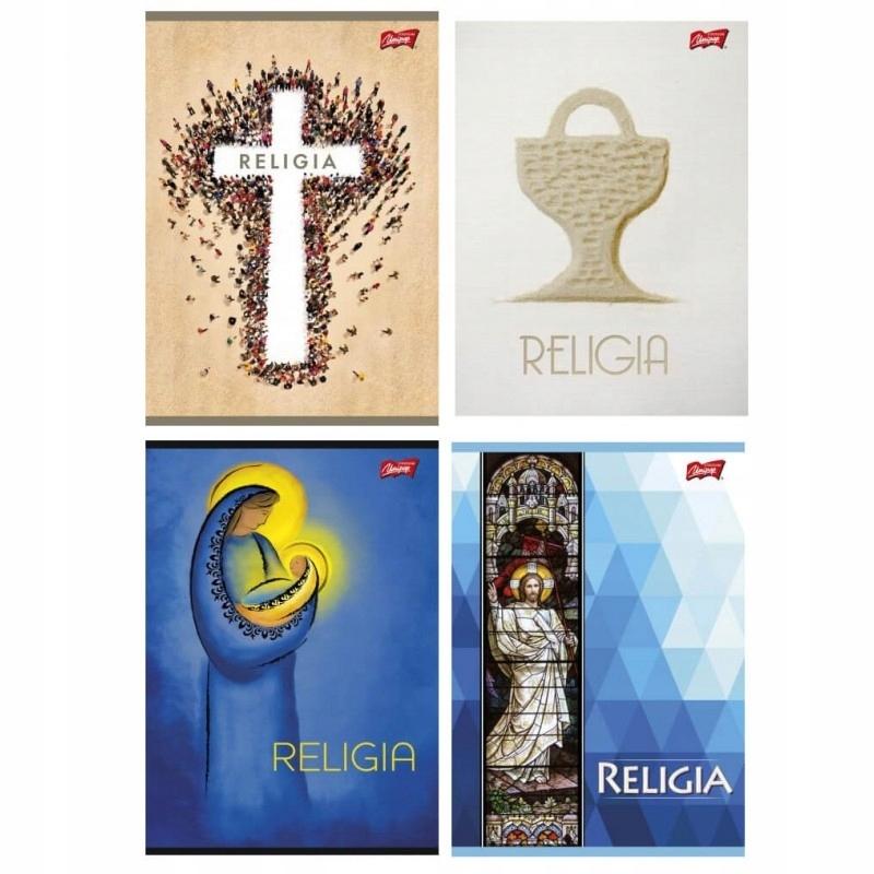 Brulion przedmiotowy Unipap A5/80k kratka - religia