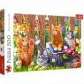Trefl, Puzzle 500: Kotki w ogrodzie (37326)