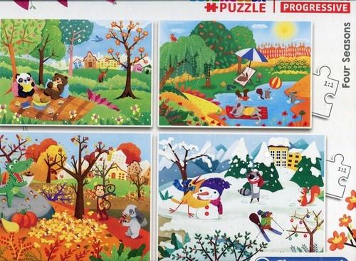 Puzzle 20+60+100+180 Progressive SuperColor Four Seasons