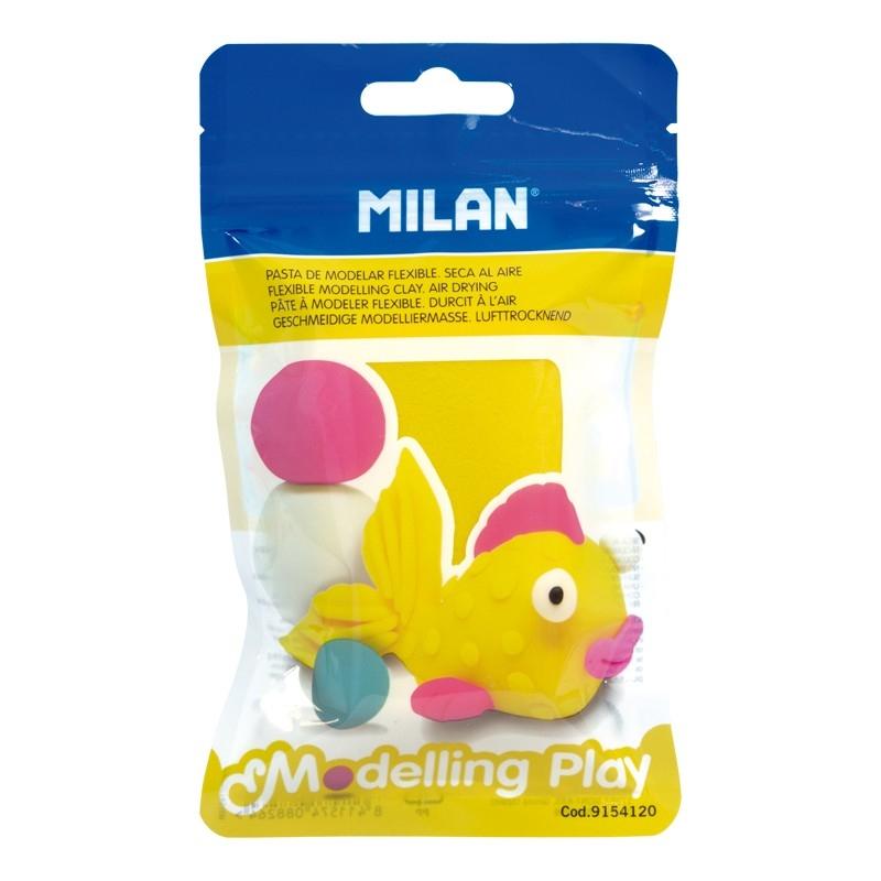 Milan, modelina AIR-DRY samoutwardzalna 100 g - żółta (9154120)