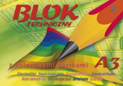 Blok techniczny kolorowy, A3, 10k (RP72)
