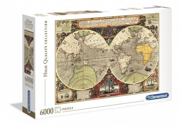 Puzzle 6000 elementów HQ Antyczna Mapa Morska (36526)