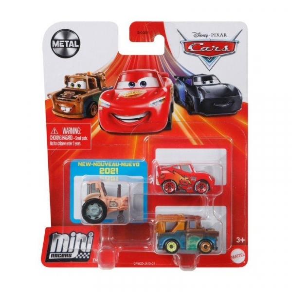 Pojazdy Auta 3-pak Zygzak McQueen, Złomek i Traktor (GKG01/GRW20)