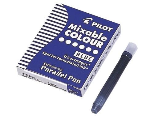 Naboje do pióra Pilot Parallel Pen niebieskie 6 szt. (IC-P3-S6-L)